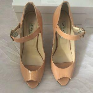 Jimmy Choo peep toe Mary Jane pumps size 39
